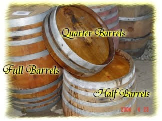 Wine Barrel Planter Barrel Used Wine Barrels Half Wine Barrel
