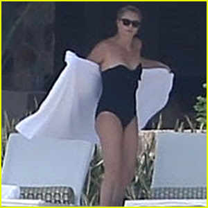 Charlize Theron Hits the Pool During Some Time Off in Mexico!