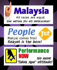 Najib's political slogan by mowadoha.