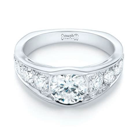 Custom Diamond Engagement Ring #103165   Seattle Bellevue