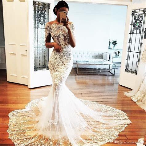 Gorgeous 2018 Off Shoulder Wedding Dresses Appliques Long
