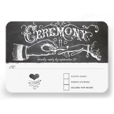 Ceremony Chalkboard Wedding Response Card