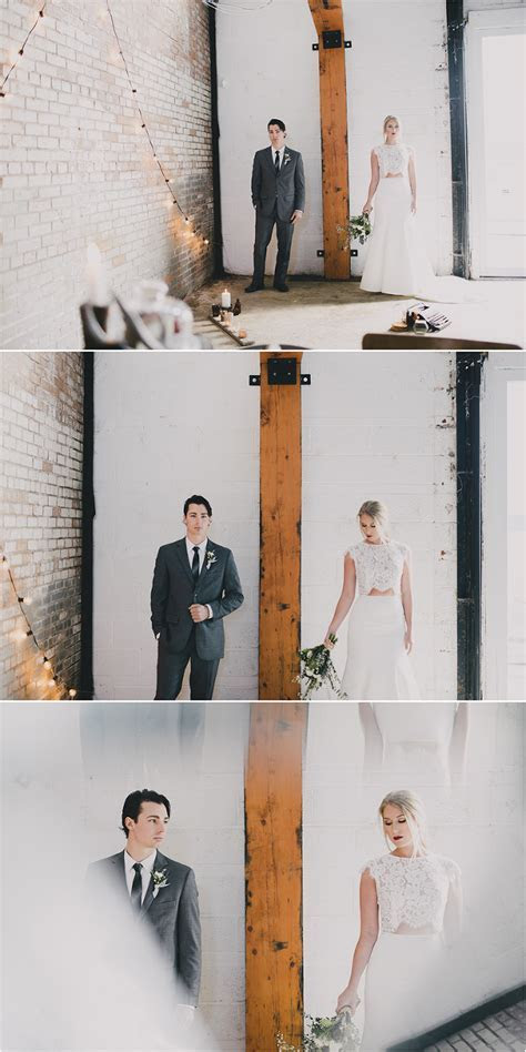 winter industrial stylized wedding shoot   halifax wedding
