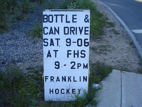 Bottle & Can Drive - FHS 9/6/08