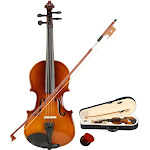 Ktaxon 1/8 Suitable for 4-5 Years Old Kid Acoustic Violin+Case+Bow+Rosin Natural Color