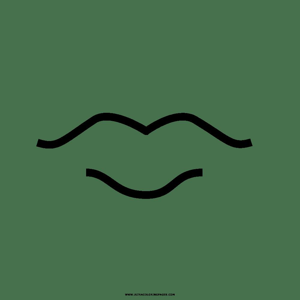 Unico Disegni Da Colorare E Stampare Bocca Bacio