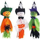 QTFHR Halloween Hanging Ghost Prop Scary Decor 3 Colors Design Halloween Ghost Decorations Outdoor Indoor Bar Party Background Decoration (3 Pcs)