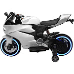 Best Ride on Tron Motorcycle 12V-White