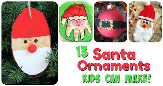Santa Ornaments Kids Can Make! | Letters from Santa Blog
