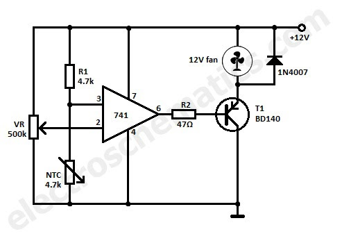 thermistor temperature sensor circuit thermistor schematic