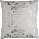 Throw Pillow Rizzy Home White Silver