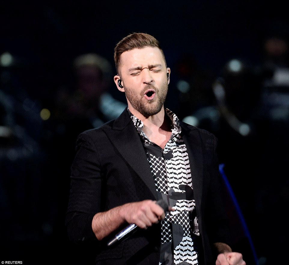Rock your body: Justin Timberlake put on an captivating show as he made a guest appearance in the electrifying stadium