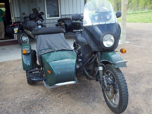 Picking up my ural after six weeks of waiting on the final drive repair.
