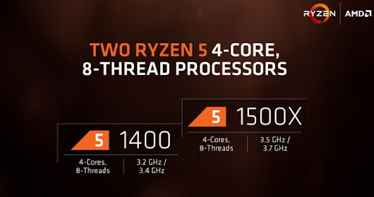 AMD Unveils Ryzen 5 Line-Up, 4 and 6-Core Processors As Low As $169 Target Intel Core i5 And i3