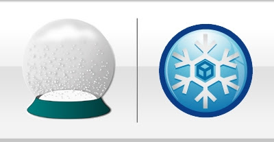 Snowglobe logo - old and new