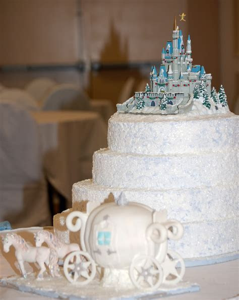 Castle and Train   Cinderella Themed Wedding Cakes