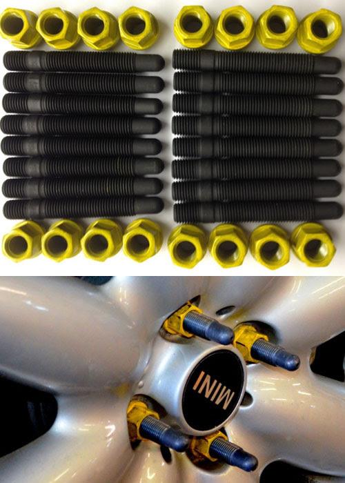 Mini Cooper M12 M14 Wheel Stud Conversion Kit Race Tire Mini Cooper Accessories Mini Cooper