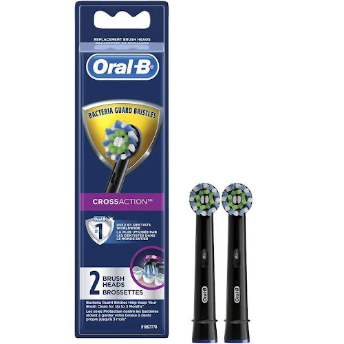Oral B CrossAction Brush Heads, Replacement - 2 brush heads