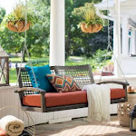 Belham Living Bigsby Resin Wicker Porch Swing with Cushion