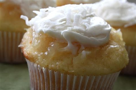 Pineapple Coconut Cupcakes with Buttermilk Cream Cheese