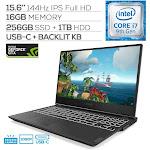 "Lenovo Legion Y540 144Hz Gaming Laptop, 15.6"" IPS Full HD, Core i7-9750H Hexa-Core up to 4.50 GHz, GTX 1660Ti, 16GB RAM, 256GB SSD+1TB HDD, Back"