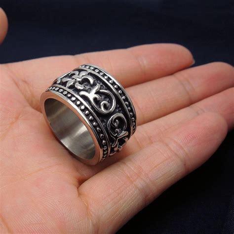 Best Mens Biker Rings For Men Geometric Siver Ring Couple