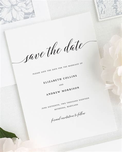 Elegant Romance Save the Date Cards   Save the Date Cards