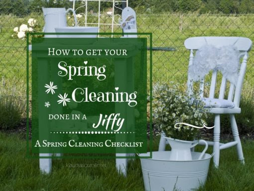 The Spring Cleaning Checklist - How To Get Your Spring Cleaning Done In A Jiffy