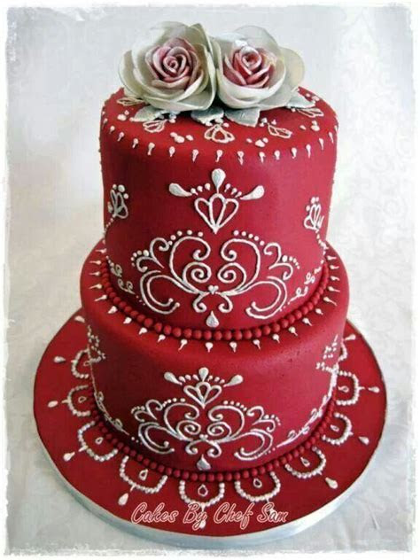 Indian Weddings Inspirations. Red Wedding Cake. Repinned
