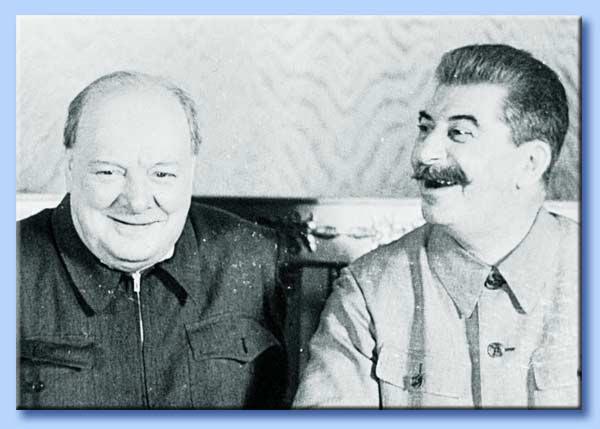 winston churchill - iosif stalin