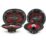Boss CH5730 CH6530 5in x 7in 3-way Chaos Series Full Range Car Speakers Package