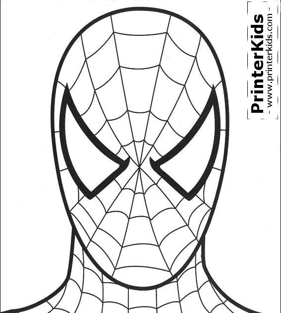 Printable Spiderman Mask Spiderman Coloring Page Baby Face