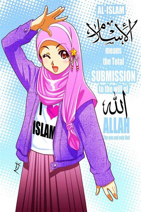 gambar wallpaper kartun berhijab kartun muslimah terbaru