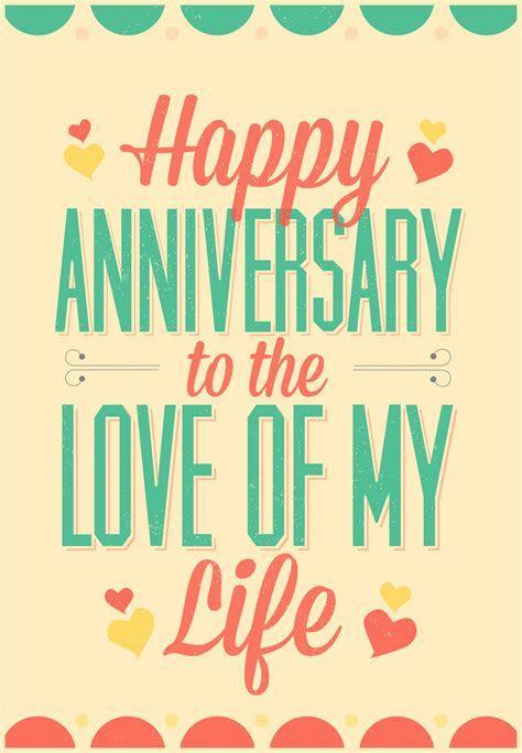 Love of My Life   Free Happy Anniversary Card   Greetings