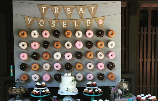The latest wedding trend is… a Donut Wall!