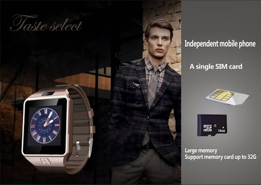 Bluetooth Smartwatch For Android and iPhone W/SIM Card Support