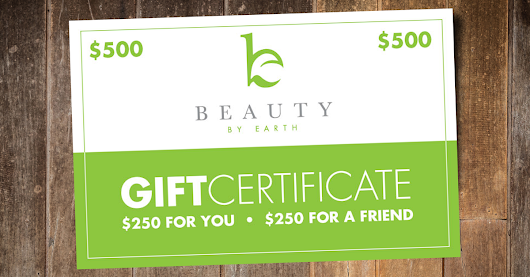 GIVEAWAY: Win $500 of Beauty by Earth Organic & Natural Skin Care Products