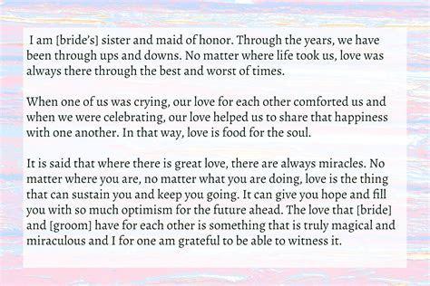 Sister Wedding Speech   Text & Image Speeches   QuoteReel