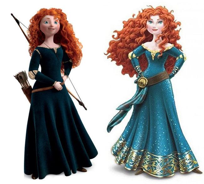 La Merida de Pixar y la de Disney