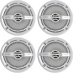 """Sony XS-MP1611 6.5"""" RMS 65 Watt Dual Cone Marine Speakers Stereo 4 ohm, White by VM Express"""