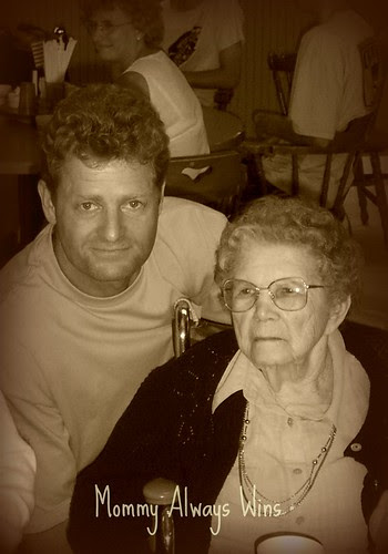 Dad & Great-Grandma on her 101st Bday