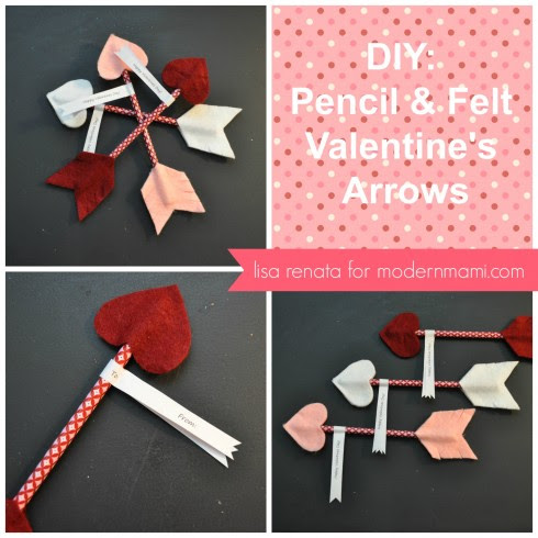 Special Valentine's Day Delivery! Handmade Valentine's Arrows {Kids Craft} | modernmami™