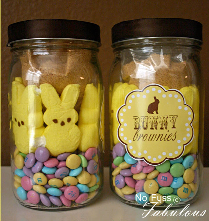 DIY Homemade Easter Favor - Bunny Brownies