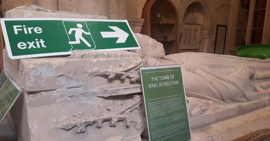 The tomb of the first King of England at Malmesbury Abbey