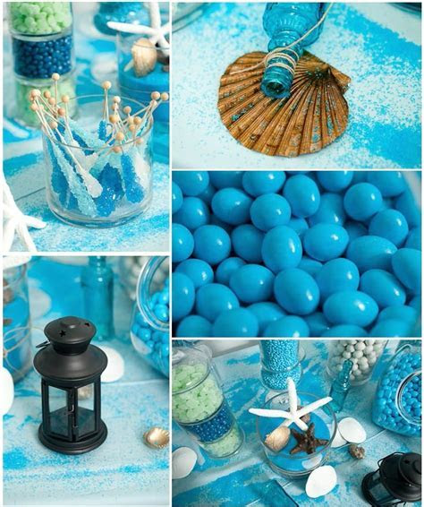 Beach props for a candy buffet. Perfect for a beach party
