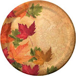 """Autumn's elegance 9"""" thanksgiving dinner paper plates 8ct. 