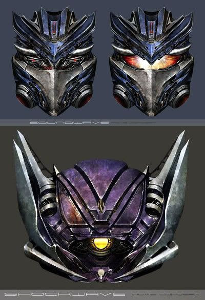Fan-made artwork of the Decepticons, Soundwave and Shockwave.