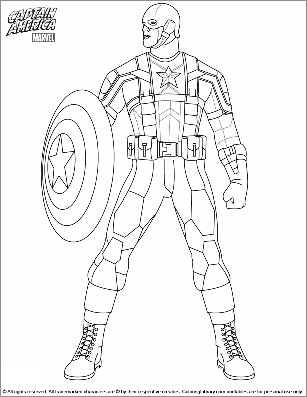 Captain America Coloring Pages Printable At Getdrawingscom Free