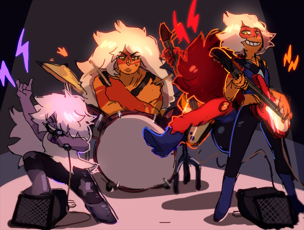 the quartzes make a band. you come up with a name because i'm not creative bonus: their biggest fans