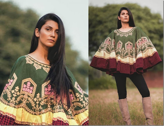 Fashionista NOW: Let Embroidered Khadi Ponchos Transform Your Christmas 2018 Outfit Game